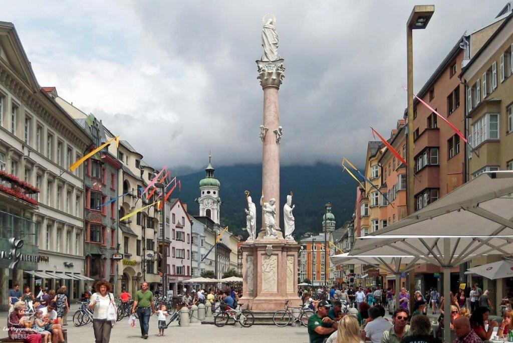 Colonne Sainte-Anne à Innsbruck dans notre article Petit guide pour visiter Innsbruck en Autriche : Que faire à Innsbruck en un jour #Innsbruck #autriche #europe #voyage