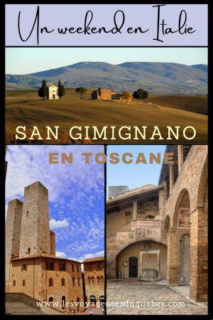 Mon weekend à visiter San Gimignano en Italie : Magnifique ville fortifiée de la Toscane #sangimignano #toscane #italie #unesco #voyage