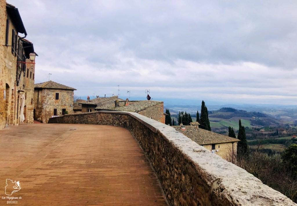 Remparts de San Gimignano en Toscane dans notre article Mon weekend à visiter San Gimignano en Italie : Magnifique ville fortifiée de la Toscane #sangimignano #toscane #italie #unesco #voyage