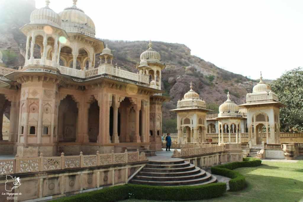 Gaitor tombeaux maharajas à Jaipur dans notre article Visiter le Rajasthan en Inde : Itinéraire et conseils pour un voyage dans cet État du Nord de l'Inde #rajasthan #inde #itineraire #voyage
