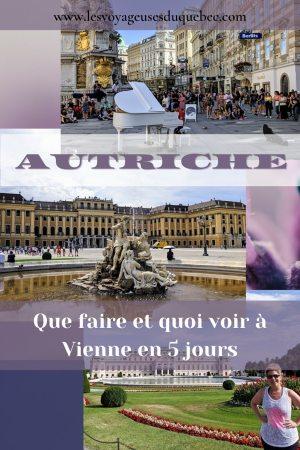 Visiter Vienne en Autriche : que voir et que faire à Vienne en 5 jours #vienne #autriche #europe #voyage