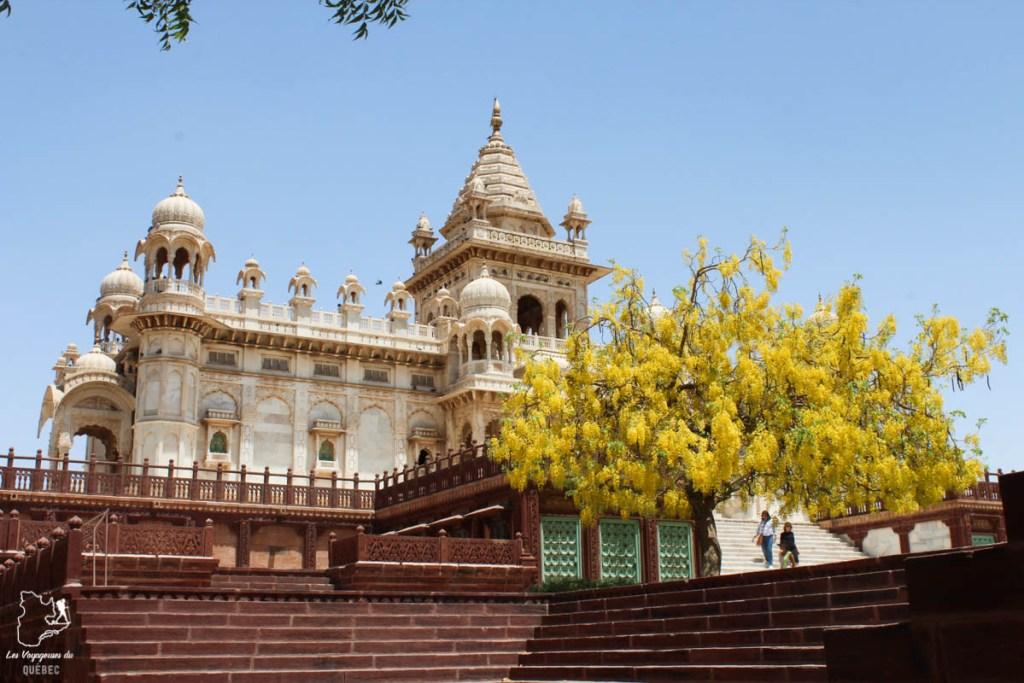 Temple de Jaswant Thada à Jodhpur dans notre article Visiter le Rajasthan en Inde : Itinéraire et conseils pour un voyage dans cet État du Nord de l'Inde #rajasthan #inde #itineraire #voyage