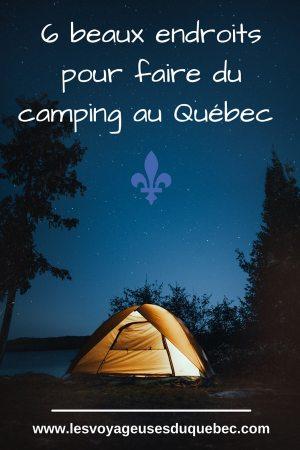 Le camping au Québec : Mes 6 plus beaux campings où camper au Québec #camping #quebec #canada #nature #pleinair