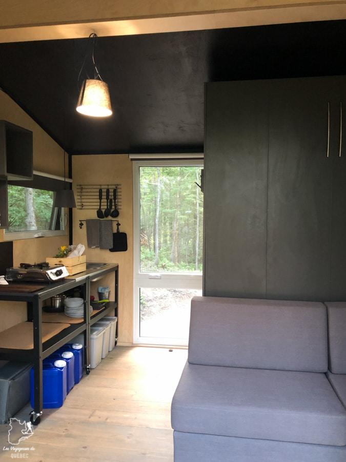 Location mini-maison au Laö Cabines à Racine dans notre article 8 mini-maisons et mini-chalets au Québec à louer pour vos vacances #minimaison #minichalet #hebergement #quebec #vacances