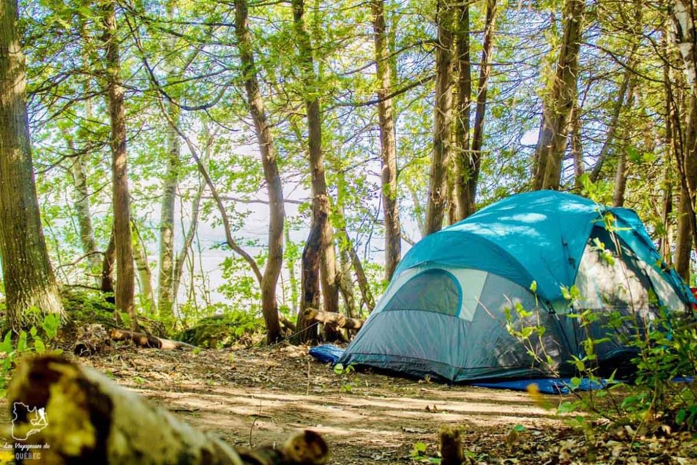 Le Camping de la Pointe à l'île d'Orléans dans notre article Le camping au Québec : Mes 6 plus beaux campings où camper au Québec #camping #quebec #canada #nature #pleinair