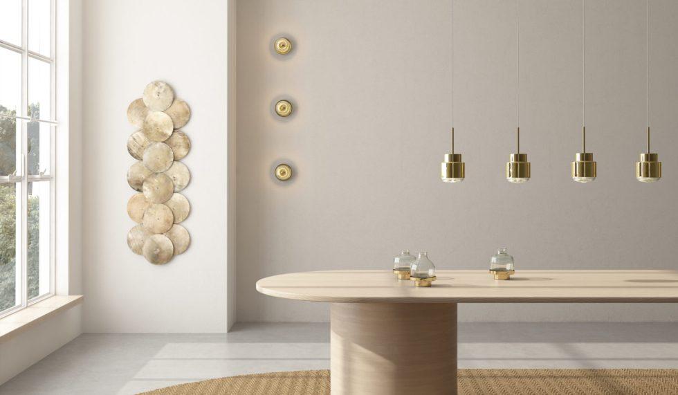 Showroom Cupallo pendant, wall and vase