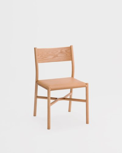 ariake chair oak leather