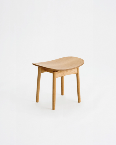 oak saga stool wood