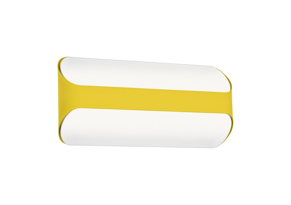 yellow wall fixture les vrais on white background