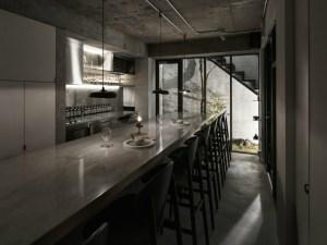 Yama dessert shop Tokyo Ariake LES VRAIS Norm Architects Outline barstool