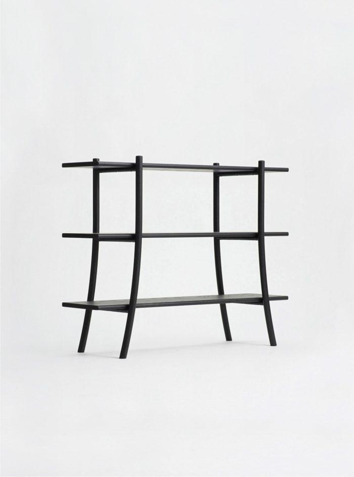 skyladder shelves low sumi ash ariake