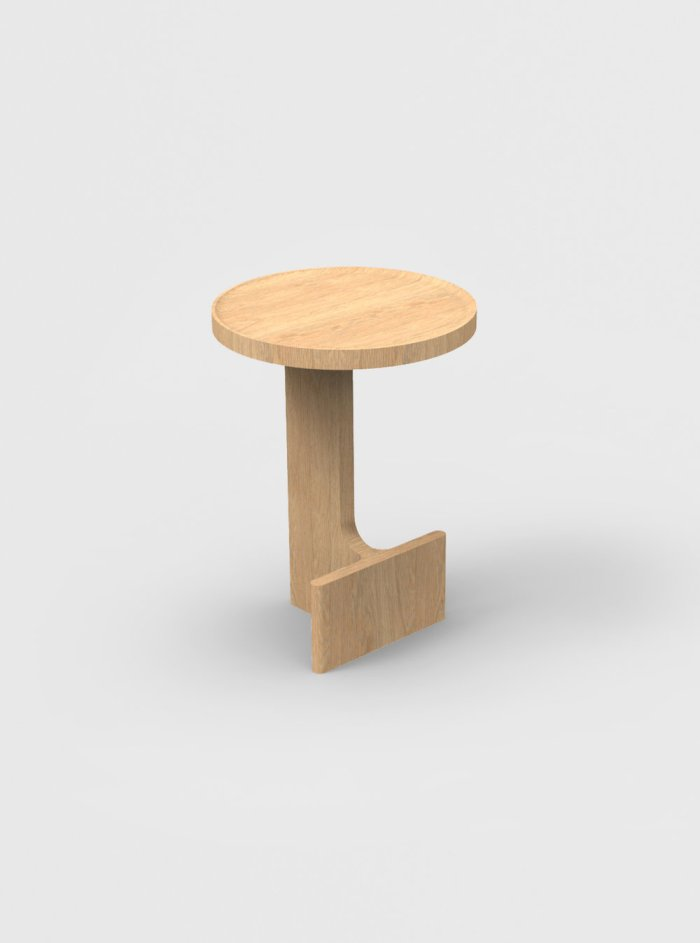 beam side table oak ariake