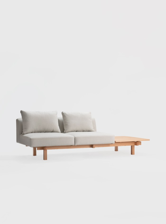 raft sofa oak ariake