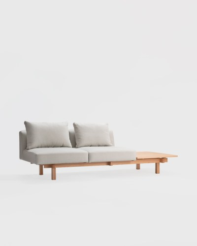 raft sofa oak ariake