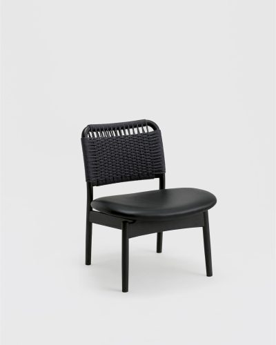 saga low chair sumi ash