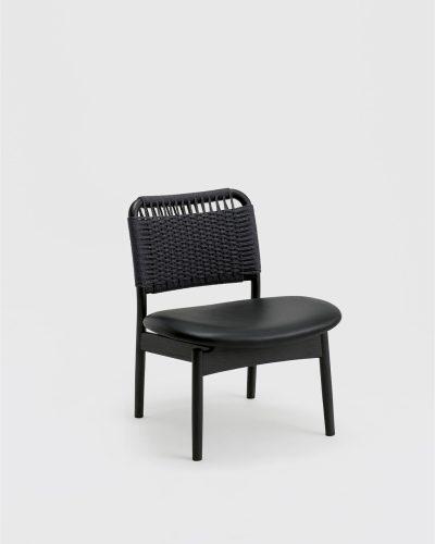 saga low chair sumi ash