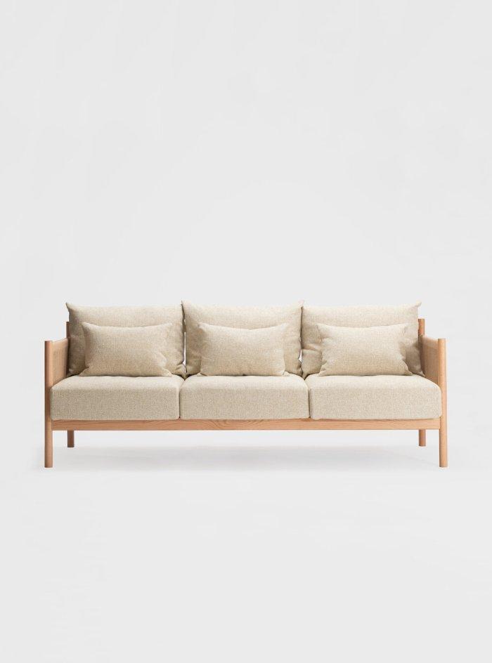 braid sofa 3 seater natural oak
