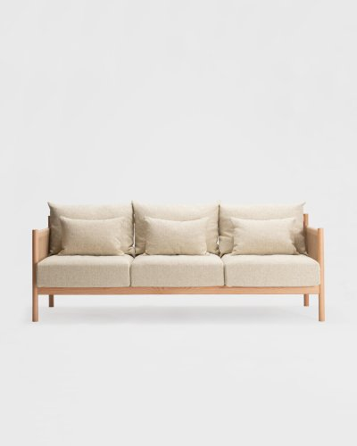 braid sofa 3 seater natural oak
