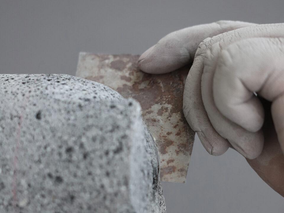 materials recinto david pompa volcanic rock