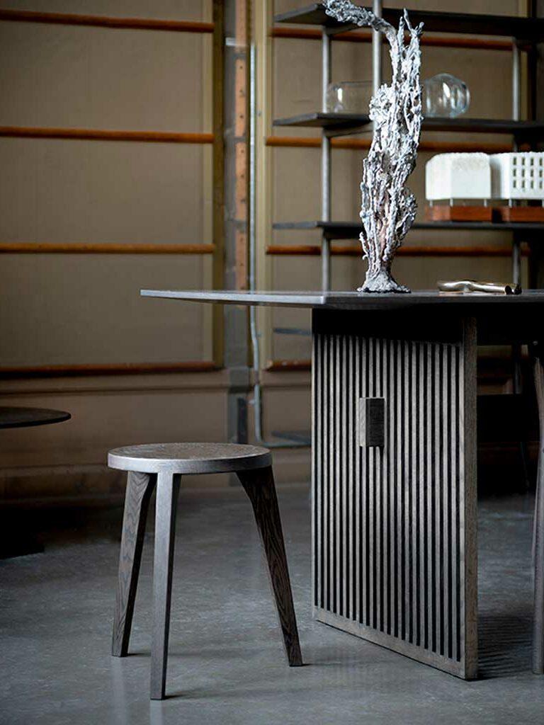 dovetail stool smoked oak