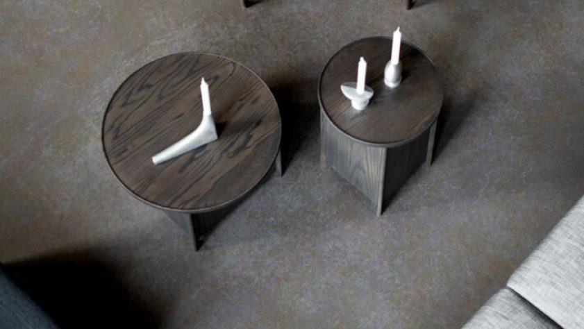 smoked oak sake tables