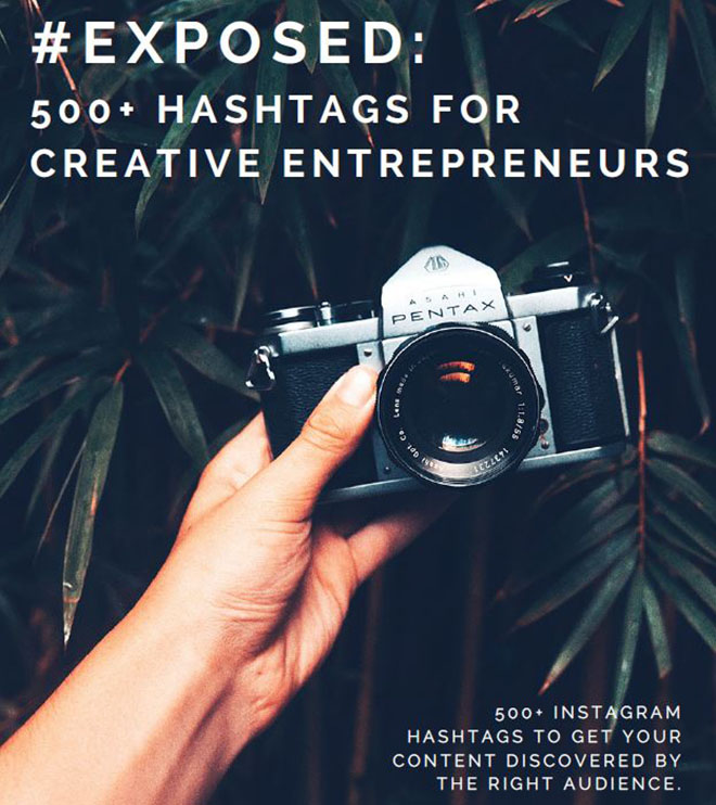 instagram hashtags for creative entrepreneurs