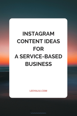 6 Instagram content ideas for service-based businesses