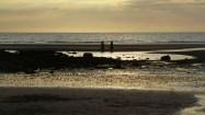Pêcheurs au crépuscule, à la Pointe aux Oies.