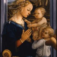 """""""Vierge à l'Enfant avec deux anges"""" de Filippo Lippi"""