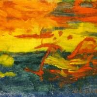"""""""Et le soleil s'endormit sur l'Adriatique"""" de Joachim-Raphaël Boronali"""