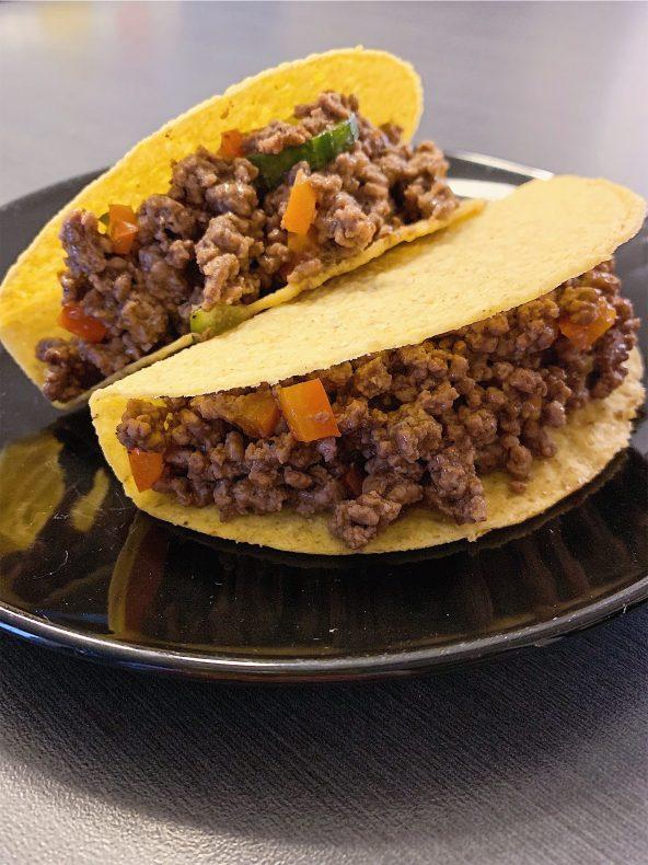 Tacos au boeuf haché
