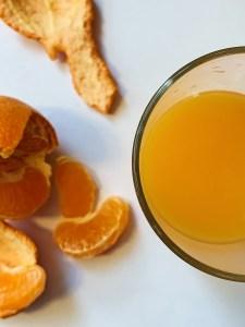 Jus d'orange et clémentine