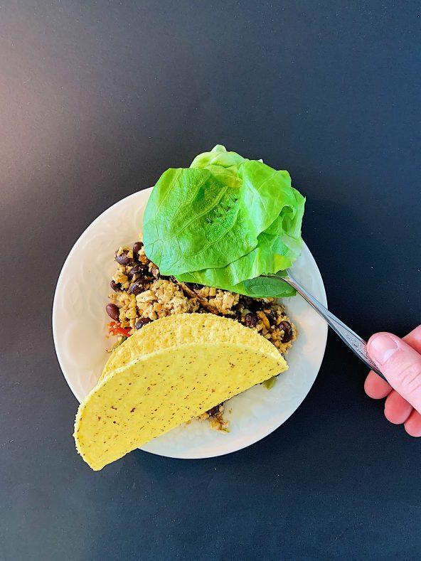 Tacos végétariens au tofu