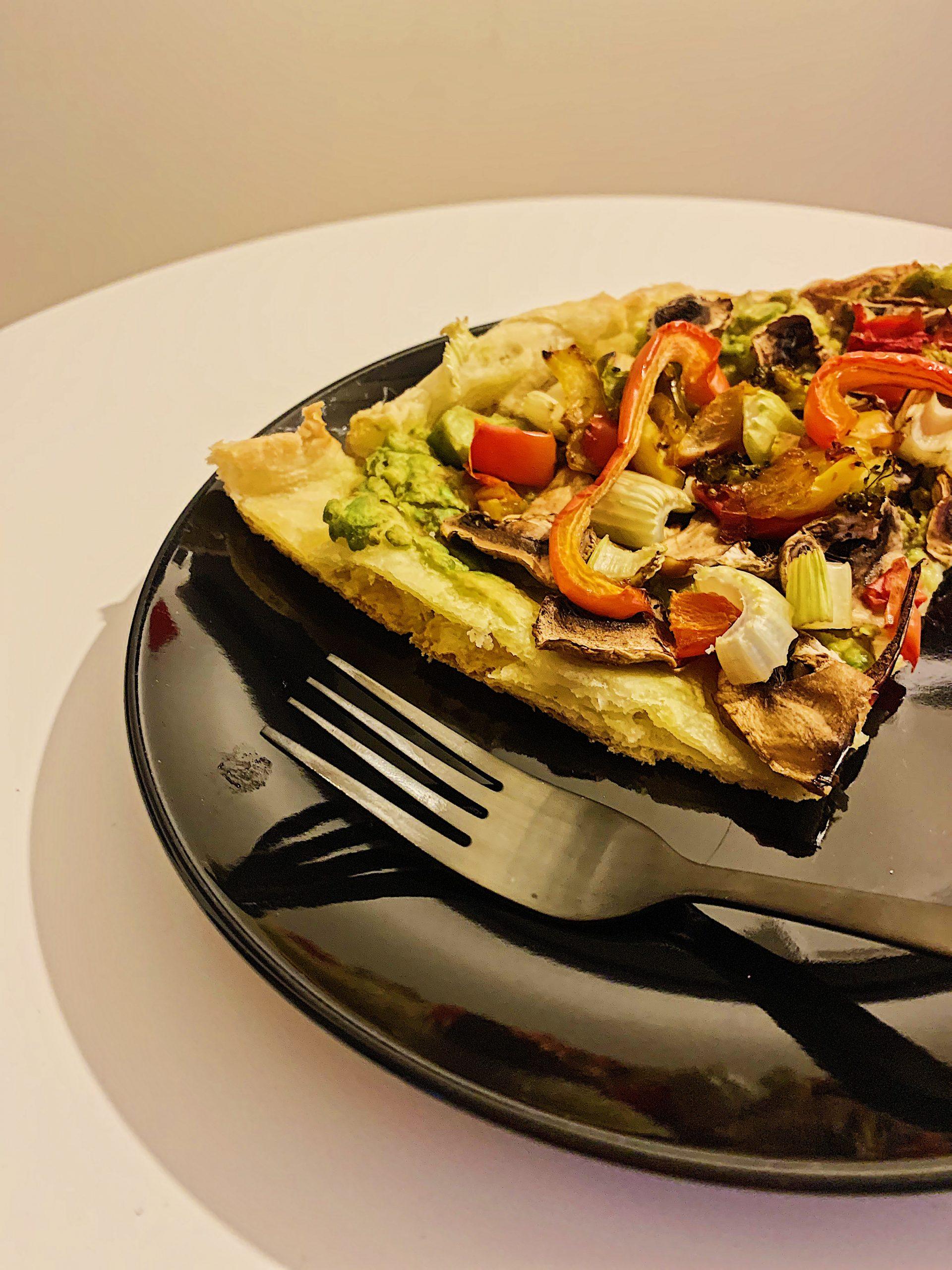 Pizza végétalienne sans gluten