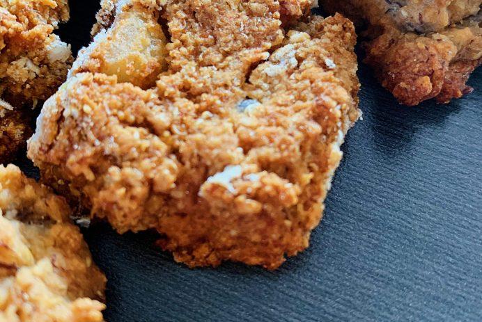 Biscuits à l'avoine aux bananes et flocons de quinoa