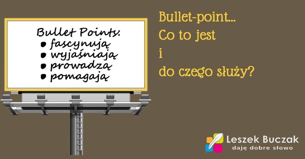 co to jest bullet-point i jak go używać