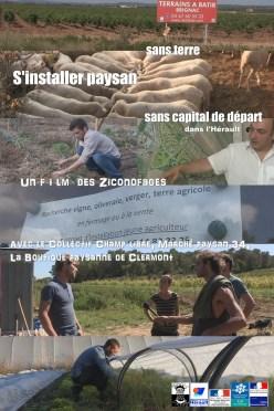 Projections rencontres «s'installer paysan sans terre et sans capital» 28, 30 mars et 2 avril