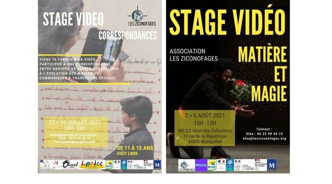 Stages vidéo jeune d'été – inscriptions ouvertes !