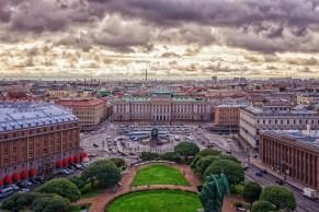 St. Petersburg- Z letalom na poti