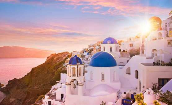 Santorini - Z letalom na poti