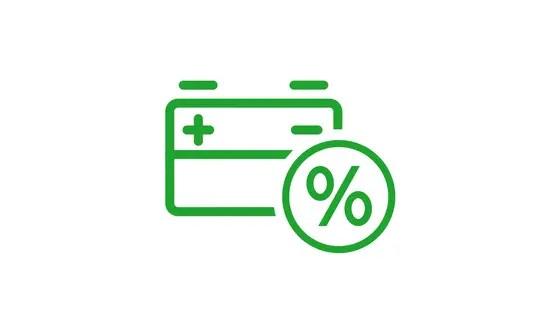 Descuento del 30% en batería