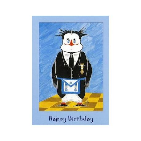 M M Happy Birthday Penguin Card Letchworths Shop Masonic Accessories Masonic Gifts Letchworth S Shop