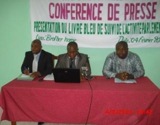 Les responsables de la CNSC Togo à la conférence de presse