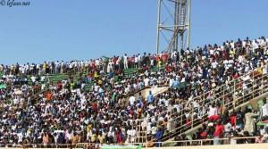 L'opposition a rempli le stade du 4 août qui compte 35000 places