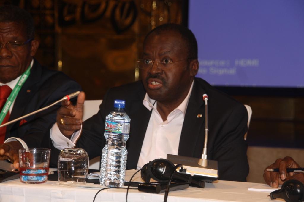Les anciens premiers ministres Joseph Koffigoh et Arthème Ahoomey-Zunu