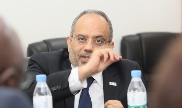 M. Carlos Lopes devant les chefs d'agences des nations unies au Togo