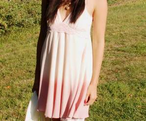 Refashioning a Dip Dyed Dress