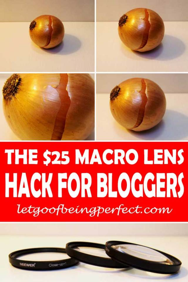 Instead of buying an expensive macro lens for your digital camera, try out this $25 hack to get closer photographs. Great for bloggers to save money! I am saving up my money to buy a Nikon macro lens, but in the meantime, I use these great little lens to take photos. More step-by-step tutorials on the web site http://letgoofbeingperfect.com