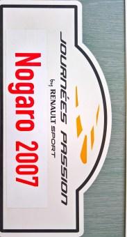 Plaque+journée+passion+Renault+nogaro+2007