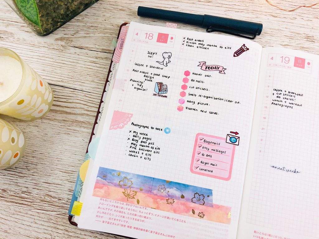 hobonichi cousin daily page